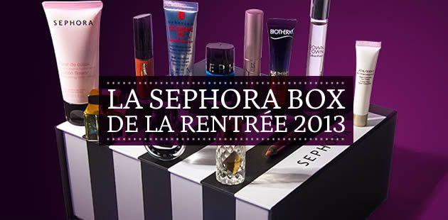 La Sephora Box de la rentrée 2013 !