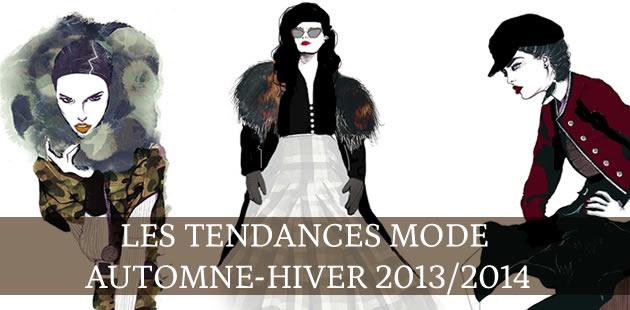 Les tendances mode automne/hiver 2013-2014