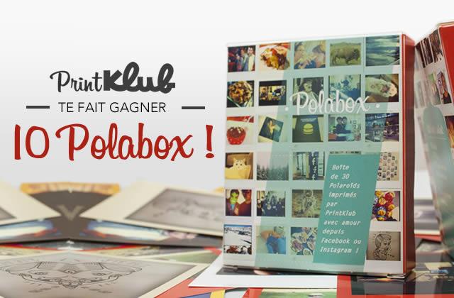 10 Polabox à gagner pour imprimer tes photos Facebook et Instagram !
