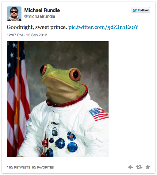 frogtwitter Frog rocket et les photobombs improbables — Mèmologie