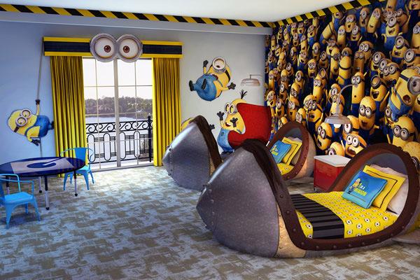 les minions ont leur chambre d'hôtel en floride - Comment Dessiner Sur Un Mur De Chambre