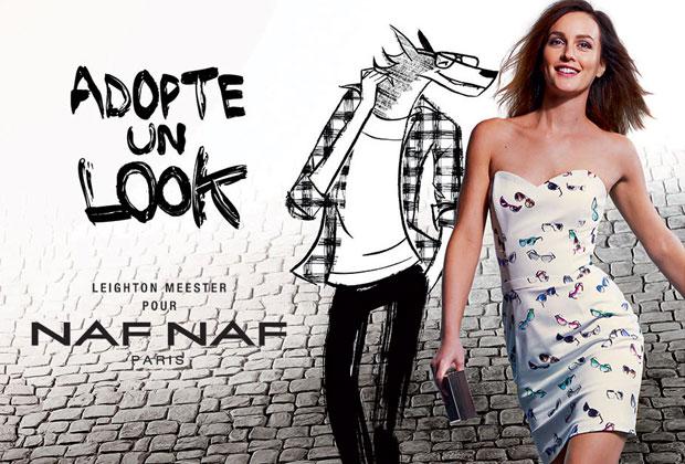 Leighton Meester pour Naf Naf : la campagne dévoilée nafnaf1