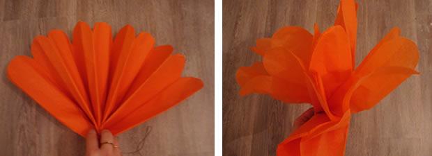 Commant faire des fleurs en papier - Guirlandes en papier a faire soi meme ...