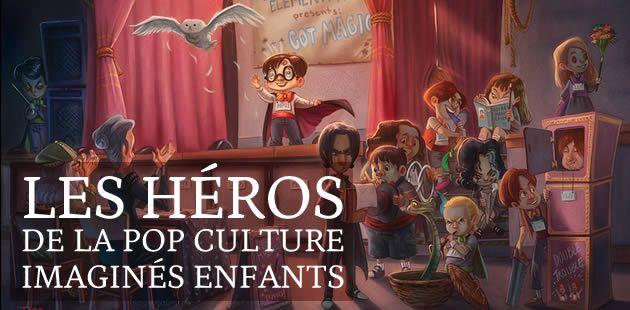 Les héros de la pop culture imaginés enfants