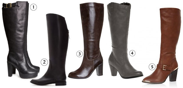 bottes hautes Les tendances chaussures de lautomne/hiver 2013 2014
