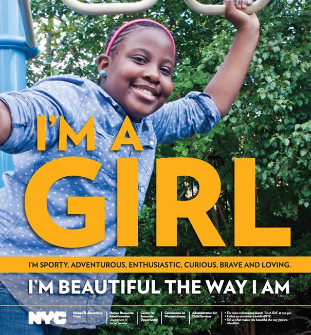 Une campagne pour booster lestime de soi des petites new yorkaises nyc girls projet