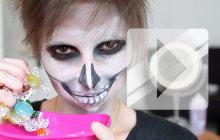 Maquillage Halloween : la tête de mort