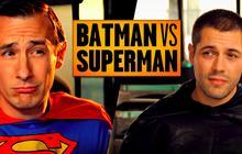 Superman et Batman s'invitent chez le Golden Moustache