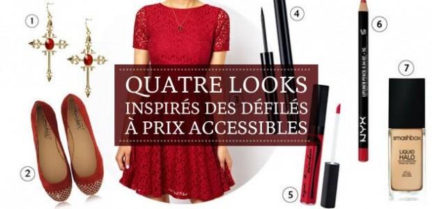 Quatre looks inspirés des défilés à prix accessibles