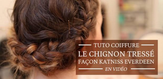 Le chignon tressé façon Katniss Everdeen — Tuto Coiffure en vidéo