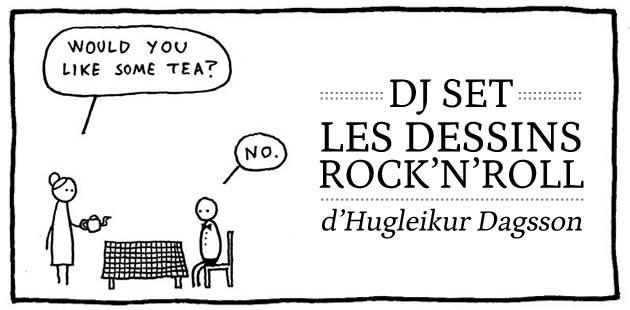 DJ Set, les dessins rock'n'roll d'Hugleikur Dagsson