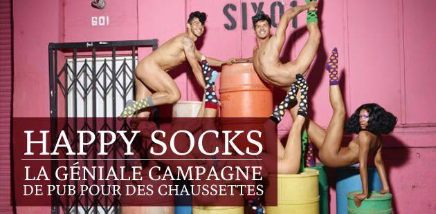 Happy Socks, la géniale campagne de pub pour des chaussettes