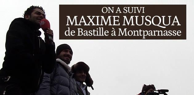 On a suivi La Marche de Maxime Musqua de Bastille à Montparnasse