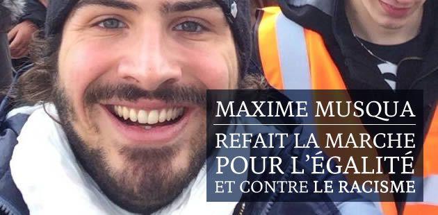 Maxime Musqua refait La Marche pour l'égalité et contre le racisme