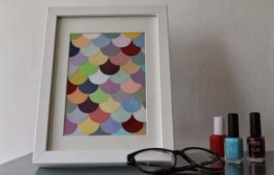 Lien permanent vers DIY — Un cadre coloré pour contrer la grisaille