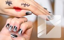 Nail art façon «montagnes enneigées» — Tuto Beauté Vidéo