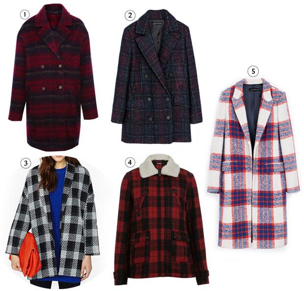 Les tendances manteaux de lautomne hiver 2013 2014 tartan