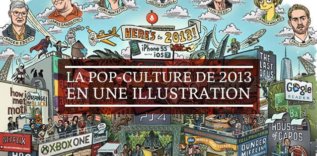 La pop-culture de 2013 en une illustration