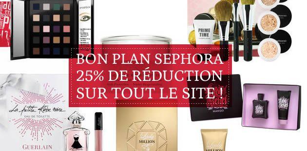 Bon plan Sephora : 25% de réduction sur tout le site !