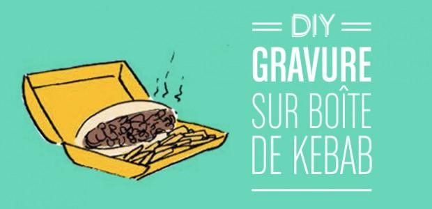 DIY : Gravure sur boîte de kebab — Le dessin de Cy.