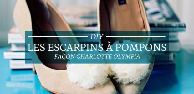 DIY — Les escarpins à pompons façon Charlotte Olympia