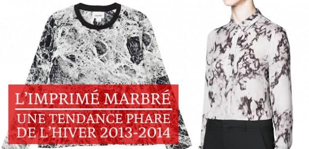 L'imprimé marbré, une tendance phare de l'hiver 2013-2014