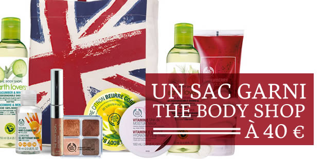 Un sac garni The Body Shop à 40€