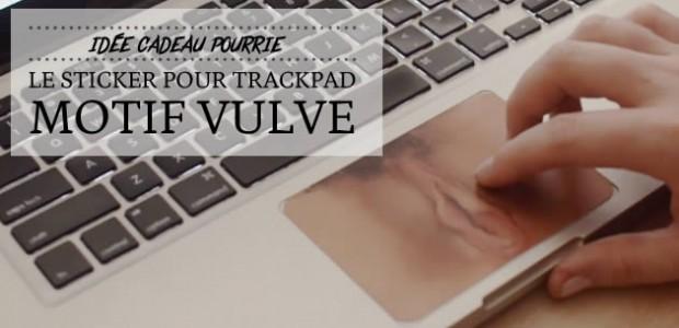 Le sticker pour trackpad motif vulve — Idée cadeau pourrie