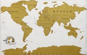 Lien permanent vers La carte du monde à gratter — Idée cadeau cool