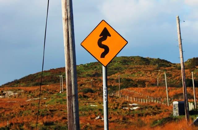 Conduire en Irlande, ou l'art de conduire à gauche — Carte postale