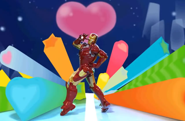 Iron Man se transforme façon Sailor Moon