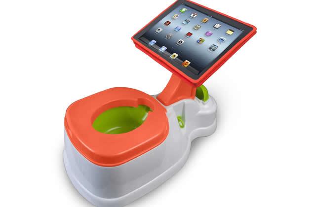 Le pot pour bébé porte-iPad — Idée cadeau pourrie