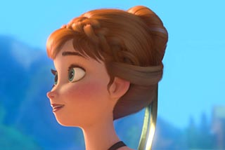 Le chignon de f  234 tes fa  231 on La Reine des Neiges     Tuto Coiffure en    Anna Frozen Hair Up