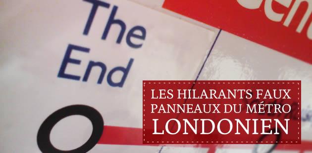 Les hilarants faux panneaux du métro londonien
