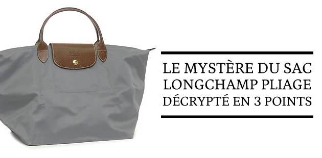 Le mystère du sac Longchamp Pliage décrypté en 3 points