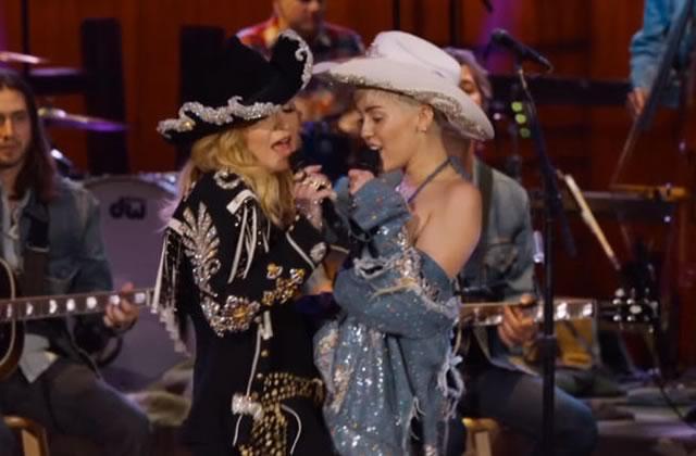 Miley Cyrus et Madonna en duo