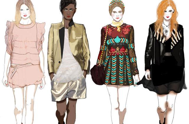 Les tendances mode printemps-été 2014