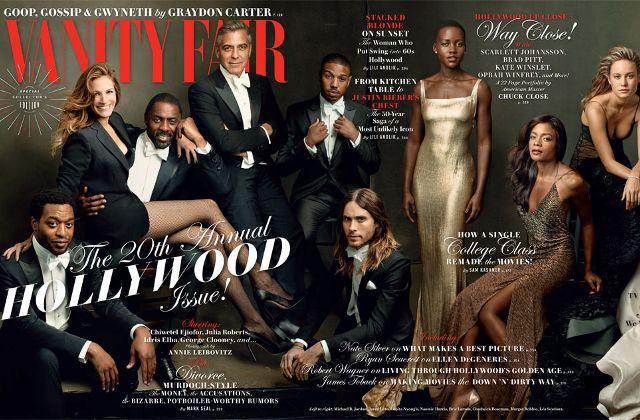 Vanity Fair inclut enfin des acteurs noirs à sa Une !