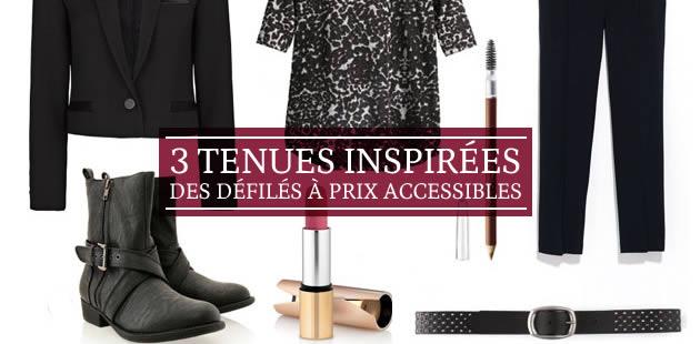 3 tenues inspirées des défilés à prix accessibles