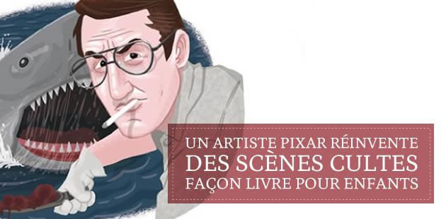 Un artiste Pixar réinvente des scènes cultes façon livre pour enfants