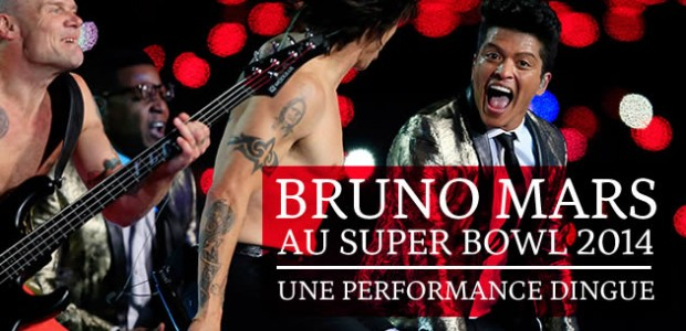 Bruno Mars au Super Bowl 2014, une performance dingue