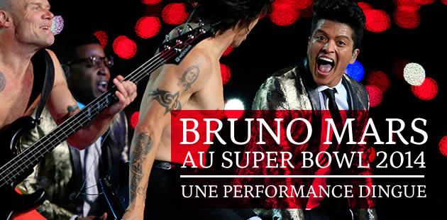 Bruno Mars au Super Bowl 2014, une performance dingue