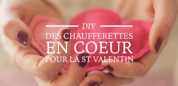 DIY — Des chaufferettes en coeur pour la Saint Valentin
