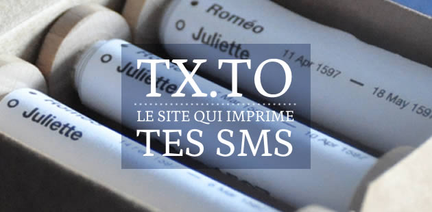 Tx.to, le site qui imprime tes SMS