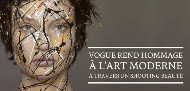 Vogue rend hommage à l'Art Moderne à travers un shooting beauté