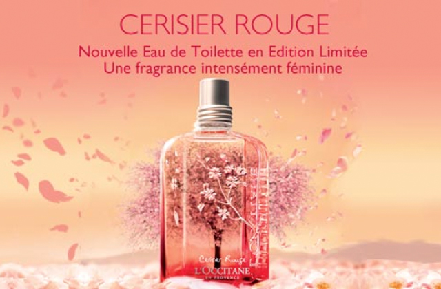 Cerisier Rouge, la nouvelle fragrance de L'Occitane