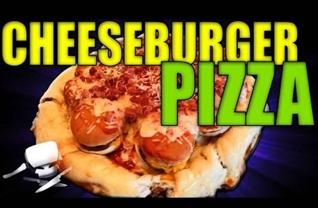 Le Cheeseburger Pizza, par Epic Meal Time