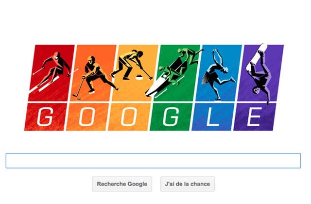 Un Doodle Google (un peu) engagé pour les J.O.