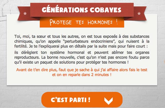 « Protège tes hormones », un questionnaire sexe et santé