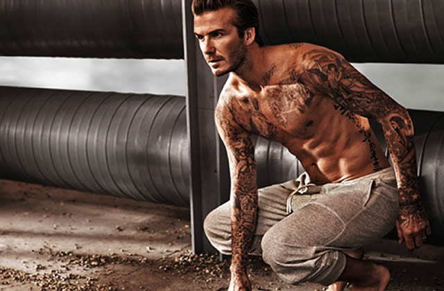 david beckham renfile son boxer pour la nouvelle pub h m. Black Bedroom Furniture Sets. Home Design Ideas